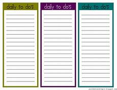 Printable Daily To Do List Template Just Sweet And Simple Printable Little Daily To Do List S