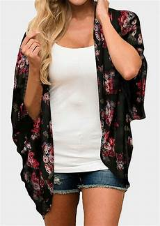floral batwing sleeve cardigan salt s cardigans knitted floral sleeve striped