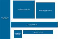 Banner Size Chart Web Banner Size Chart Foto 2017