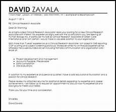 Clinical Assistant Cover Letter Clinical Research Associate Cover Letter Sample Livecareer
