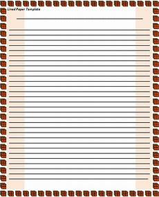 Notebook Paper Template For Word Lined Paper Form Free Word Templates
