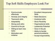 Skill Job Job Searching 101 Skills Employers Look For