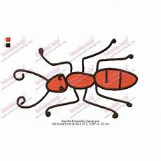 Ant Embroidery Design Red Ant Embroidery Design
