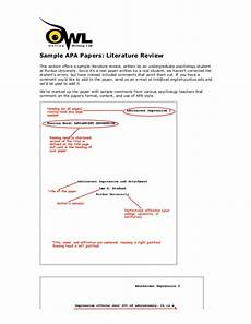 Apa Style Literature Review Sample Apa Style Litreview