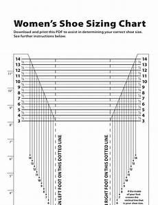And Shoe Size Chart Women S Shoe Sizing Chart Free Download