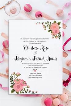 Design Invitations Online Free Printable Print Romantic Blush Free Wedding Invitation Set