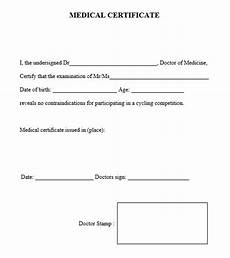 Medical Certificate Templates 8 Free Sample Medical Certificate Templates Printable
