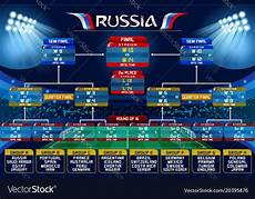 Fifa World Cup Russia Wall Chart Russia World Cup Schedule Chart Royalty Free Vector Image