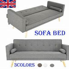 3 colors fabric sofa bed 3 seater padded sofabed