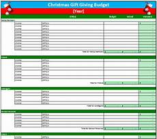 Holiday Budget Template Christmas Gift Budget Worksheet Template