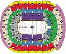 Sharks Interactive Seating Chart Nhl Hockey Arenas Hp Pavilion At San Jose Home Of The