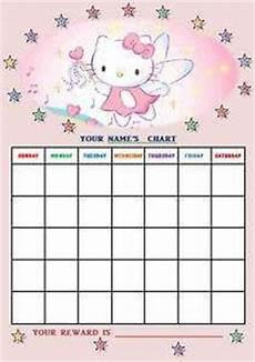 Hello Kitty Potty Training Chart Hello Kitty Behavior Chart Behavior Charts Pinterest
