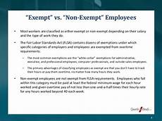 Definition Of Exempt Employees Employment Law Update