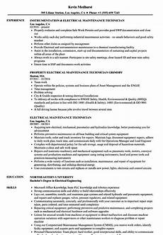 Resume Of Electrical Technician Sample Resume Of Electrician Maintenance