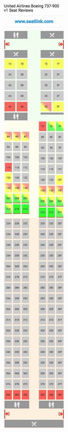 United Airlines Boeing 737 Seating Chart United Airlines Boeing 737 900 V1 739 Seat Map Alaska