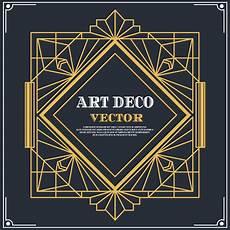 Art Deco Vector Art Deco Label Vector Download Free Vectors Clipart