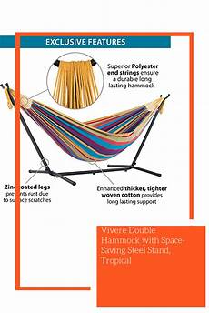 vivere hammock with space saving steel stand tropical