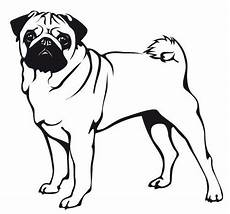 wandtattoo mops 7 pugs stencil coloring page