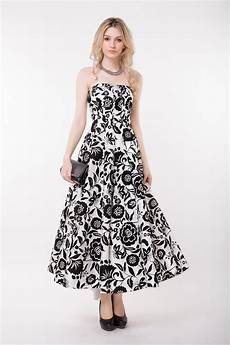 stylish strapless floral print wedding guest dress