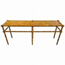 Bamboo Sofa Table 3d Image by Vintage Faux Bamboo Sofa Console Table At 1stdibs