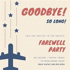 creamairplane stars farewell party invitation templates