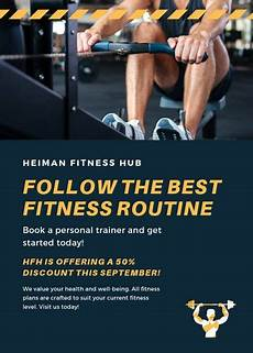 Training Advertisement Template Customize 65 Fitness Flyer Templates Online Canva