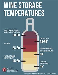 Wine Storing Temperature Chart The Ideal Wine Storage Temperature Storing Wine Correctly