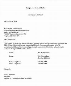 Sample Appointment Letter Download Free Appointment Letters 35 Free Word Pdf Documents