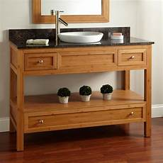 48 quot bamboo console vanity for semi recessed sink
