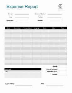 Expense Forms Templates 2020 Expense Report Form Fillable Printable Pdf Amp Forms