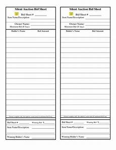 Bid Sheet Template Free Silent Auction Bid Sheet Google Search Are We There