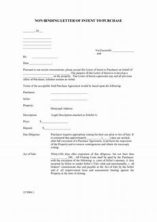 Non Binding Letter Of Intent Non Binding Letter Of Intent To Purchase Property