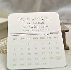 Save The Date Calendar Calendar Style Personalised Save The Date Cards By