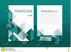 Front Page Design Template Geometric A4 Front Page Business Annual Report Print
