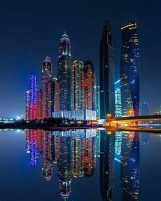 Dubai Night Lights The Beautiful Dubai Marina Skyline At Night Dubai