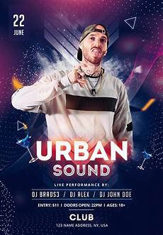 Free Flyer Templates Psd Urban Sound Download Free Psd Flyer Template Psdflyer