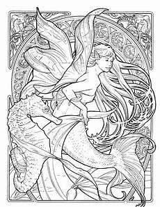 Ausmalbilder Erwachsene Meerjungfrau Pin By Brenda Mendenhall On I Like Mermaid Coloring