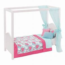 blue pink my sweet canopy bed dollhouse furniture our