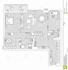Apartment Furniture Planner Standard Living Room Furniture Symbols Set Stock