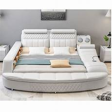 0609tb25 bedroom furniture soft sofa leather bed with
