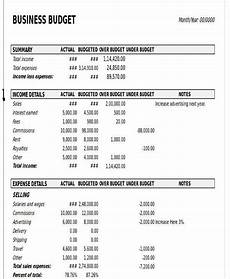 Company Budget Example 11 Business Budget Templates In Excel Word Pdf Free