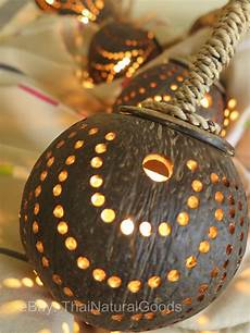 Coconut Shell Lights New Wooden Hanging Lamp Made Of Coconut Shell Night Light