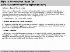 Customer Service Representative Tips Bank Customer Service Representative Cover Letter