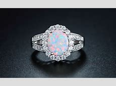 Opal Ring with Cubic Zirconia   Groupon Goods