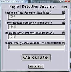 Payroll Withholding Calculator Payroll Withholding Calculator 2010 Postalda
