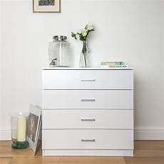 chest of 4 bedroom drawers in white home treats uk