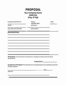 Free Construction Proposal Template Pdf Job Proposal Template Free Download Edit Fill Create