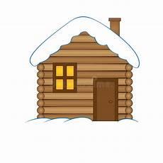 Malvorlage Haus Mit Schnee Haus Mit Schneekarikaturillustration Winter