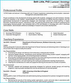 Academic Cv Format Download Academic Cv Example Cv Writing Guide Get Noticed And