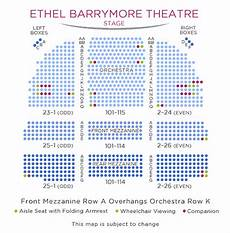 Barrymore Theater Seating Chart Barrymore Theatre Shubert Organization